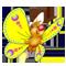 Бабочка желтая