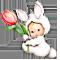 Зайчонок с тюльпаном