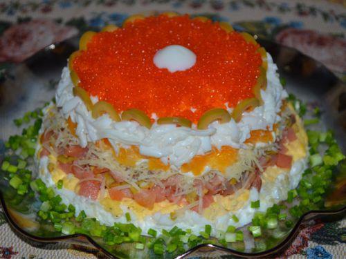 Салат королевский рецепт с красной рыбой