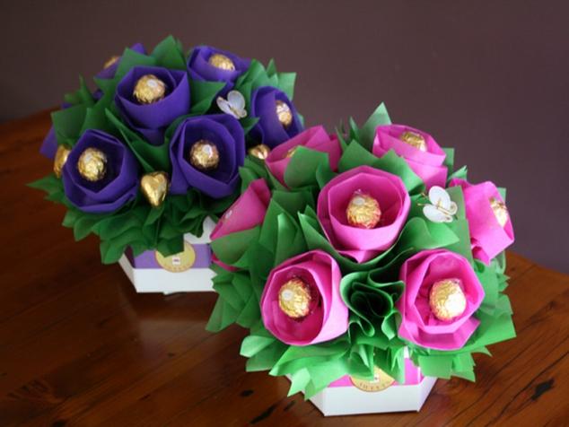 Букет для мамы своими руками из цветов 118