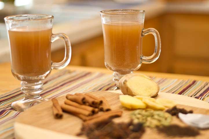 Чай с имбирем молотым при простуде