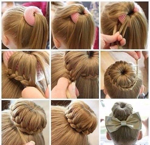 Простые причёски для девочек на средние волосы пошагово