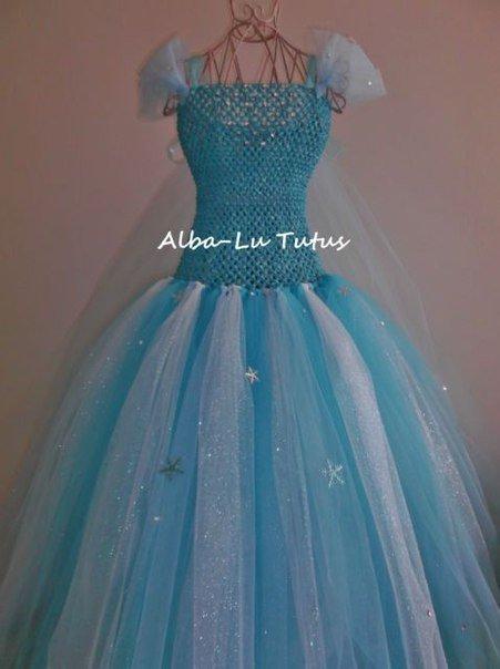 Платье эльзы из фатина своими руками