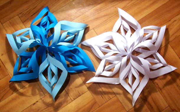 Оригами как сделать снежинку из бумаги своими руками