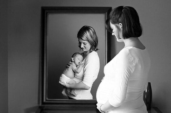 Сделал свою маму беременной