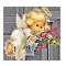 Ангелочек с цветами