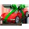 Автомобиль красный с ленточкой