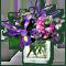 Букет фиолетовый