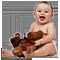 Малыш с медвежонком