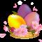 Пасха корзинка с яйцами