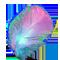 Перо розово-голубео
