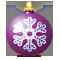 Шарик со снежинкой