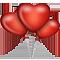 Шары в виде сердца