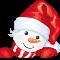 Снеговичок в шапке