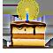 Торт со свечкой