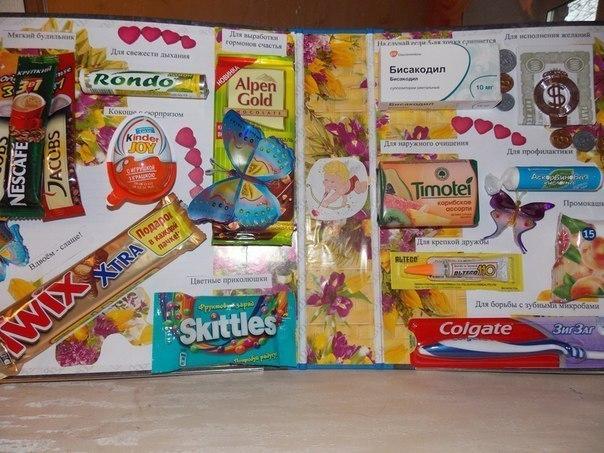 Подарок для подруги своими руками из сладостей фото 591