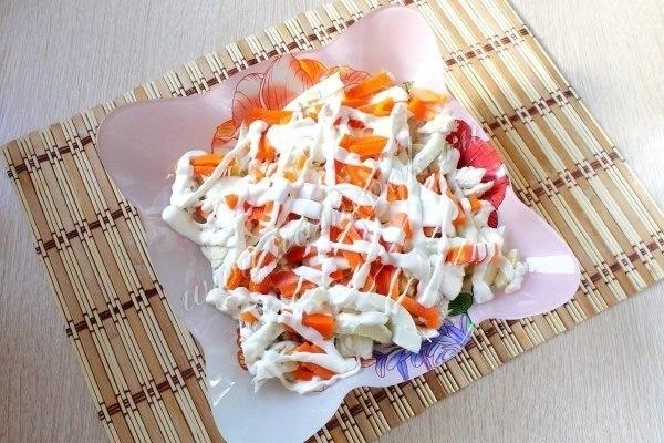 Салат охотничий рецепт с фото с курицей