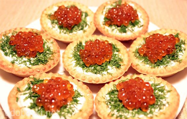Тарталетки закусочные рецепт с фото