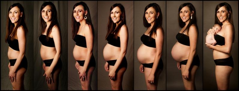 беременных фото по месяцам