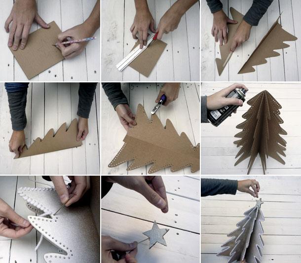Как сделать поделку к новому году из бумаги и картона